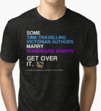 Some Victorians marry Warehouse agents Dark Version. Tri-blend T-Shirt