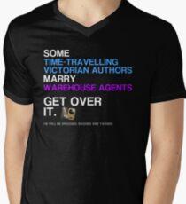 Some Victorians marry Warehouse agents Dark Version. Men's V-Neck T-Shirt