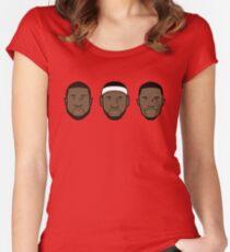 Miami Heat Big 3 Women's Fitted Scoop T-Shirt