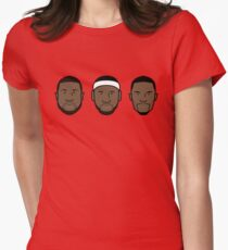 Miami Heat Big 3 Womens Fitted T-Shirt