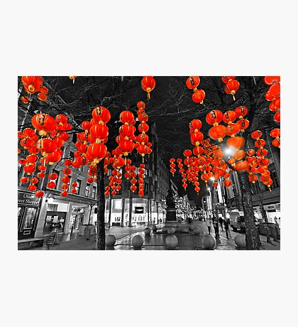 Chinese Lanterns (Selective colour) Photographic Print