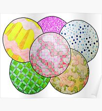 Circles with different designs Poster