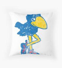 Vintage Jayhawk Throw Pillow