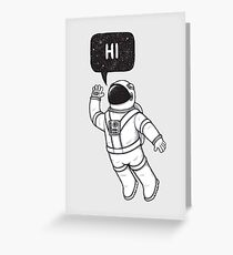 Greetings from space Greeting Card