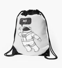 Greetings from space Drawstring Bag