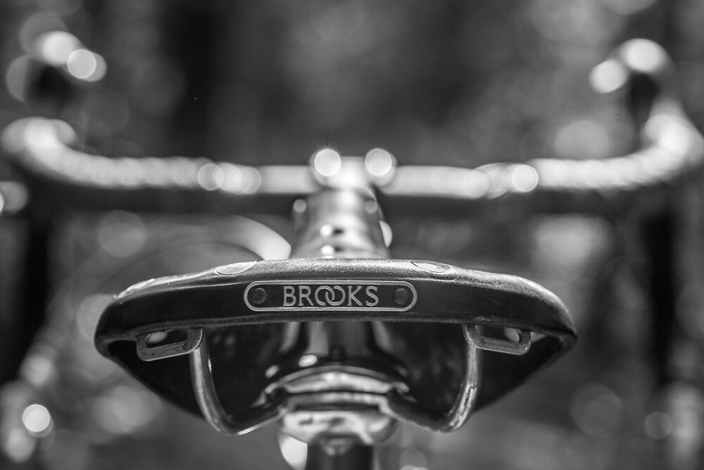 Brooks Bicycle Saddle  by Ron Bennett