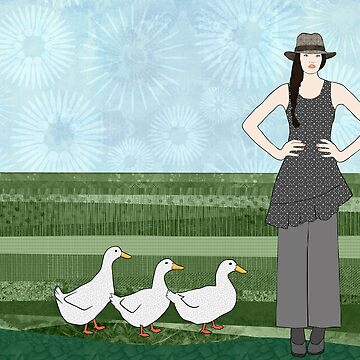 Pekin Duck Lady by janetcarlson