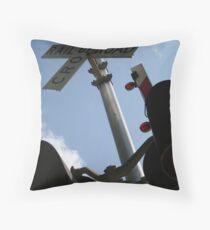 """Railroad Crossing Signal"" Throw Pillow"