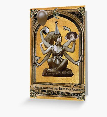 Birthday Goddess Greeting Card