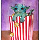 Popcorn Beastie by Nocturnarwhal