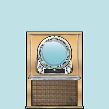 Retro 1950's Television Set by ross-campbell