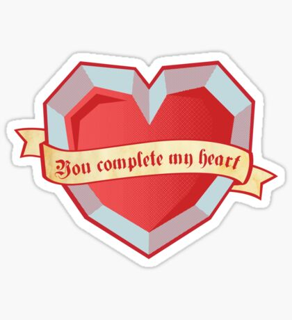 You complete my heart Sticker