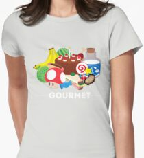 Gourmet - Video Game Food Tee Womens Fitted T-Shirt