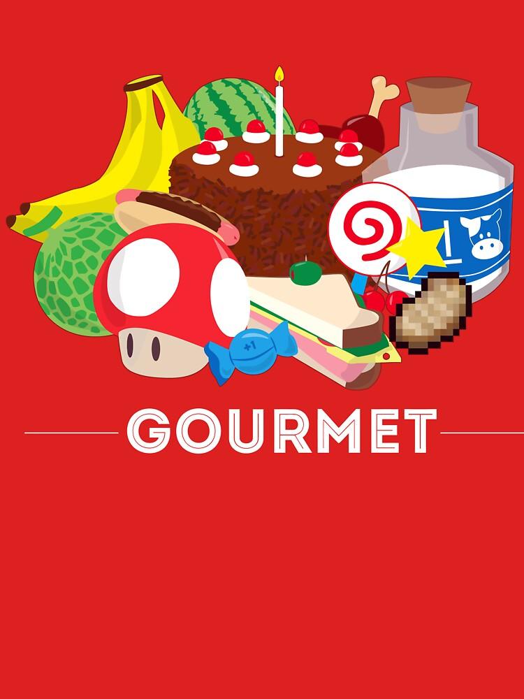 Gourmet - Video Game Food Tee by LM09