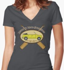 Moto Surf! Women's Fitted V-Neck T-Shirt