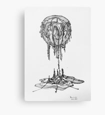 Death Star Melting Canvas Print