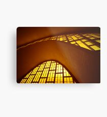 Curved concrete, Reims, Marne, France Metal Print