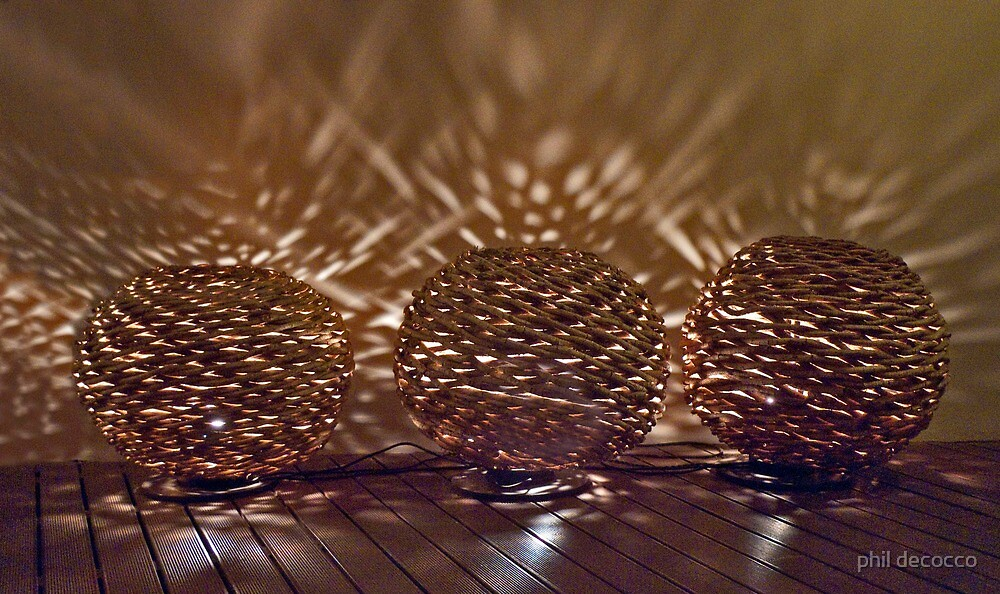 Woven Balls Of Light by phil decocco