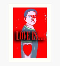 LOVE IS 12 Art Print