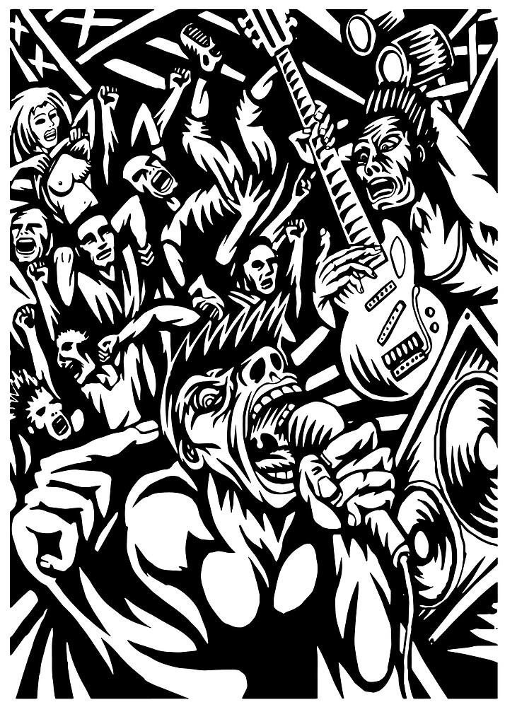 Illustration of Rock Concert by rlmf