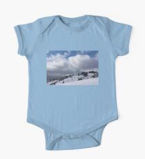 Sunny Snowstorm - a Mountain View to Remember One Piece - Short Sleeve