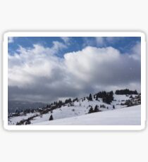 Sunny Snowstorm - a Mountain View to Remember Sticker