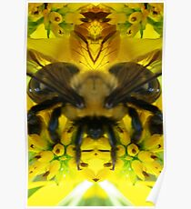 Telepathic Bee - Nature's Mirror Image Poster