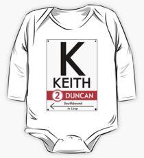 Retro CTA sign Keith One Piece - Long Sleeve