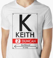 Retro CTA sign Keith Men's V-Neck T-Shirt