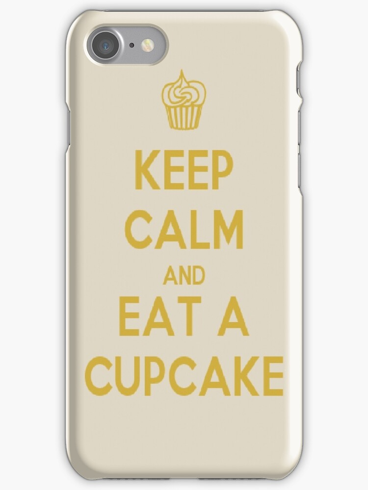 Keep Calm And Eat A Cupcake by planettheo