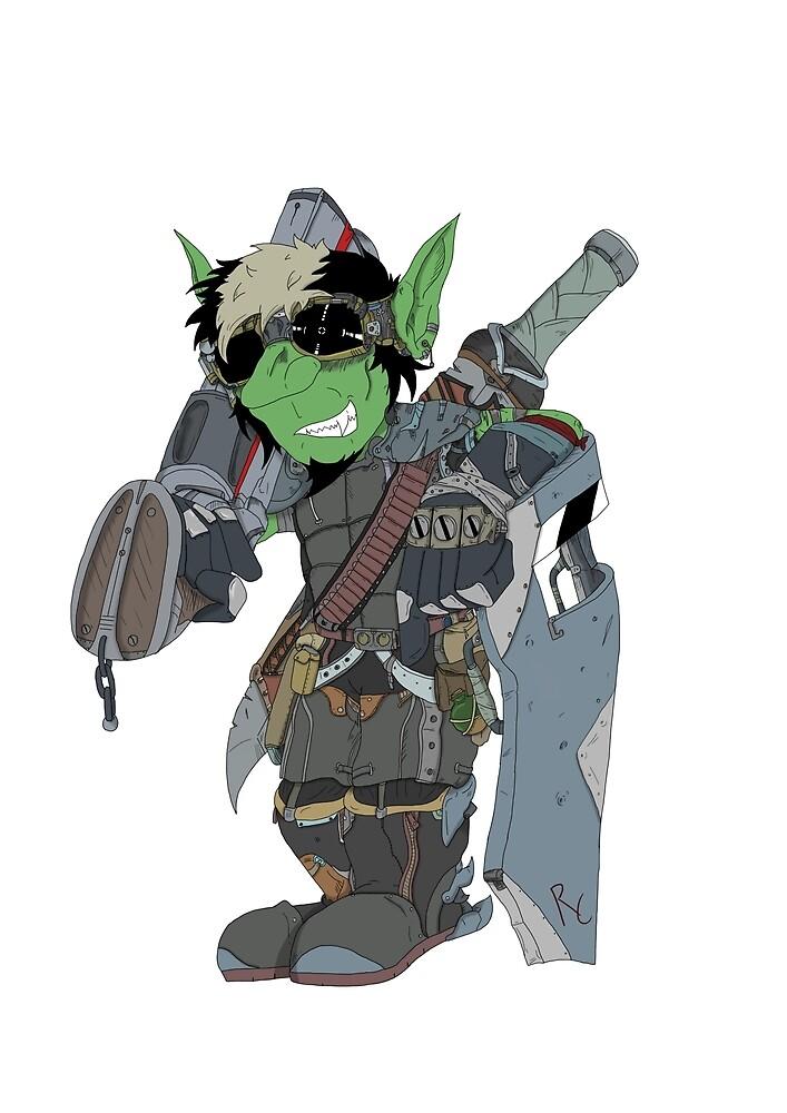Goblin Gunner Coloured  by RussellWillCope