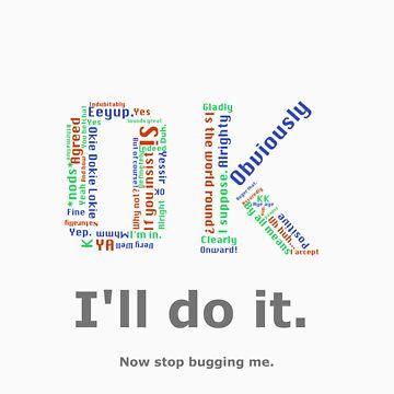 I'll do it- typography by thatnerdystuff