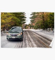 2014 Subaru Forester in Winter Poster