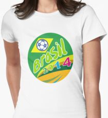 Brasil 2014 Soccer Football Ball Oval Womens Fitted T-Shirt