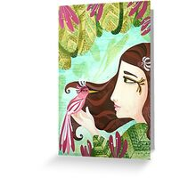 Encounter at the Heat of Nature - Hand-painted Illustrations Greeting Card