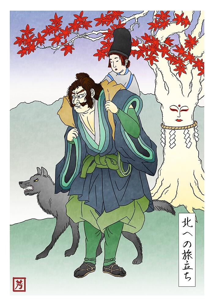 Bran Stark and Hodor journey north by Sei-G