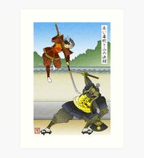 The Red Viper Dueling the Mountain Art Print