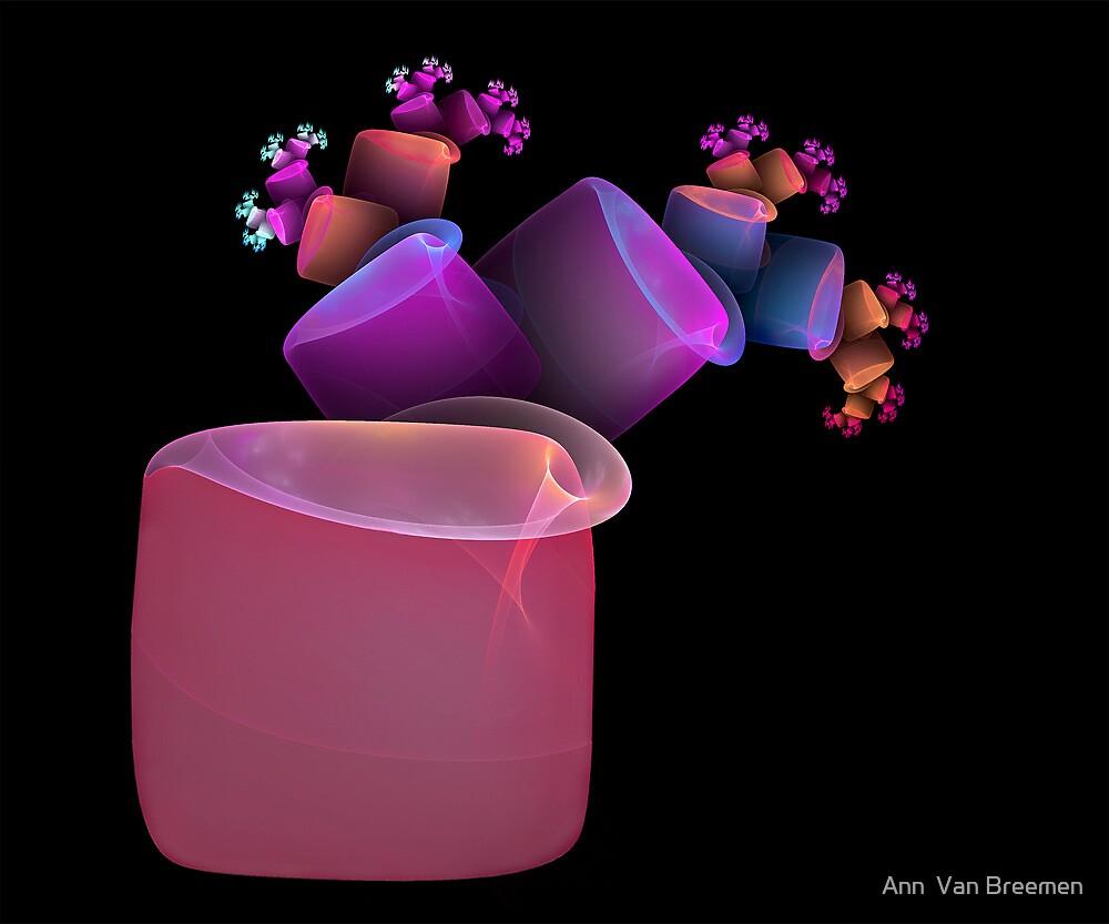 Tumbling Flower Pots by Ann  Van Breemen