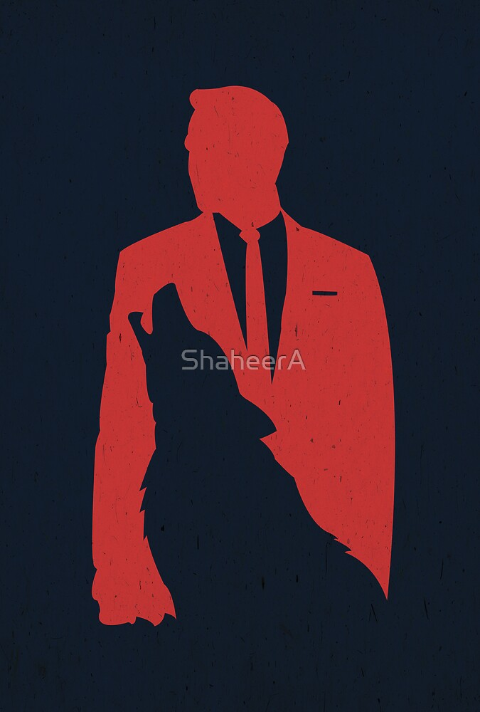 The Wolf Of Wall Street - Digital Art Poster by ShaheerA