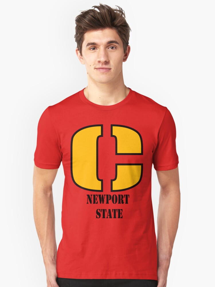 Newport State Unisex T-Shirt Front