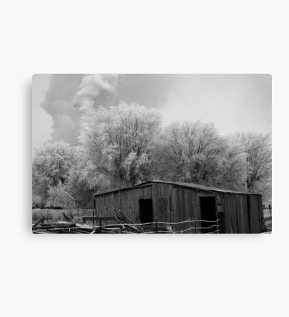 Little house on the prairie and what? Canvas Print