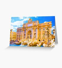 Rome, Italy - Trevi Fountain Greeting Card