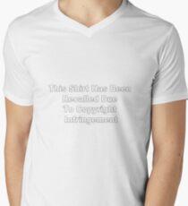 Copyright Infringement Mens V-Neck T-Shirt