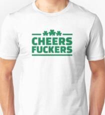 Camiseta ajustada Cheers fuckers irlandés trébol