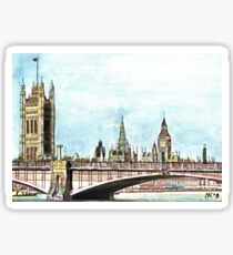 Lambeth Bridge and The Palace of Westminster. Sticker