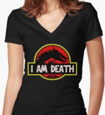 Smaug - I Am Death T-Shirt Women's Fitted V-Neck T-Shirt