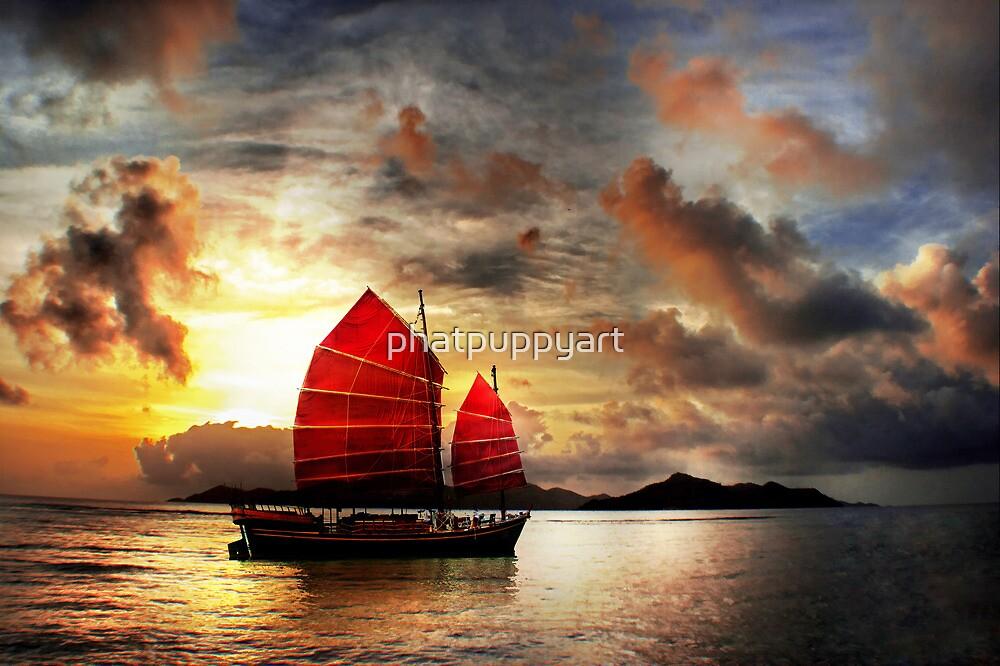 Slow Boat to China by phatpuppyart