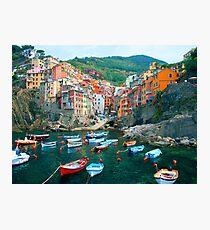 Italy. Cinque Terre marina  Photographic Print
