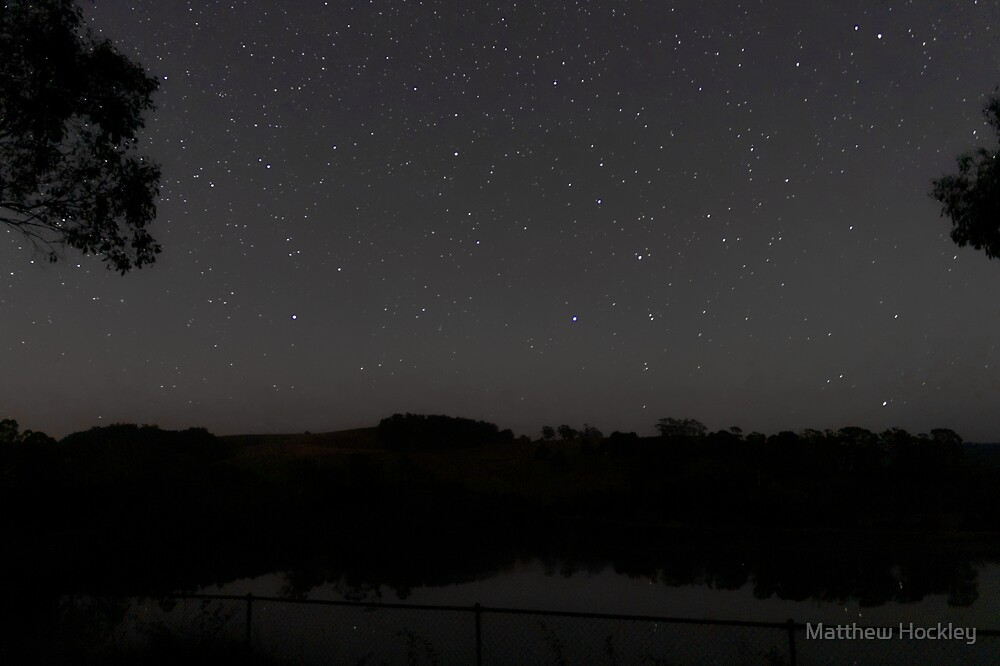 Stars over Lake Eugenana by Matthew Hockley