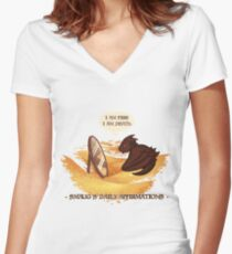 Smaug's Daily Affirmations Women's Fitted V-Neck T-Shirt